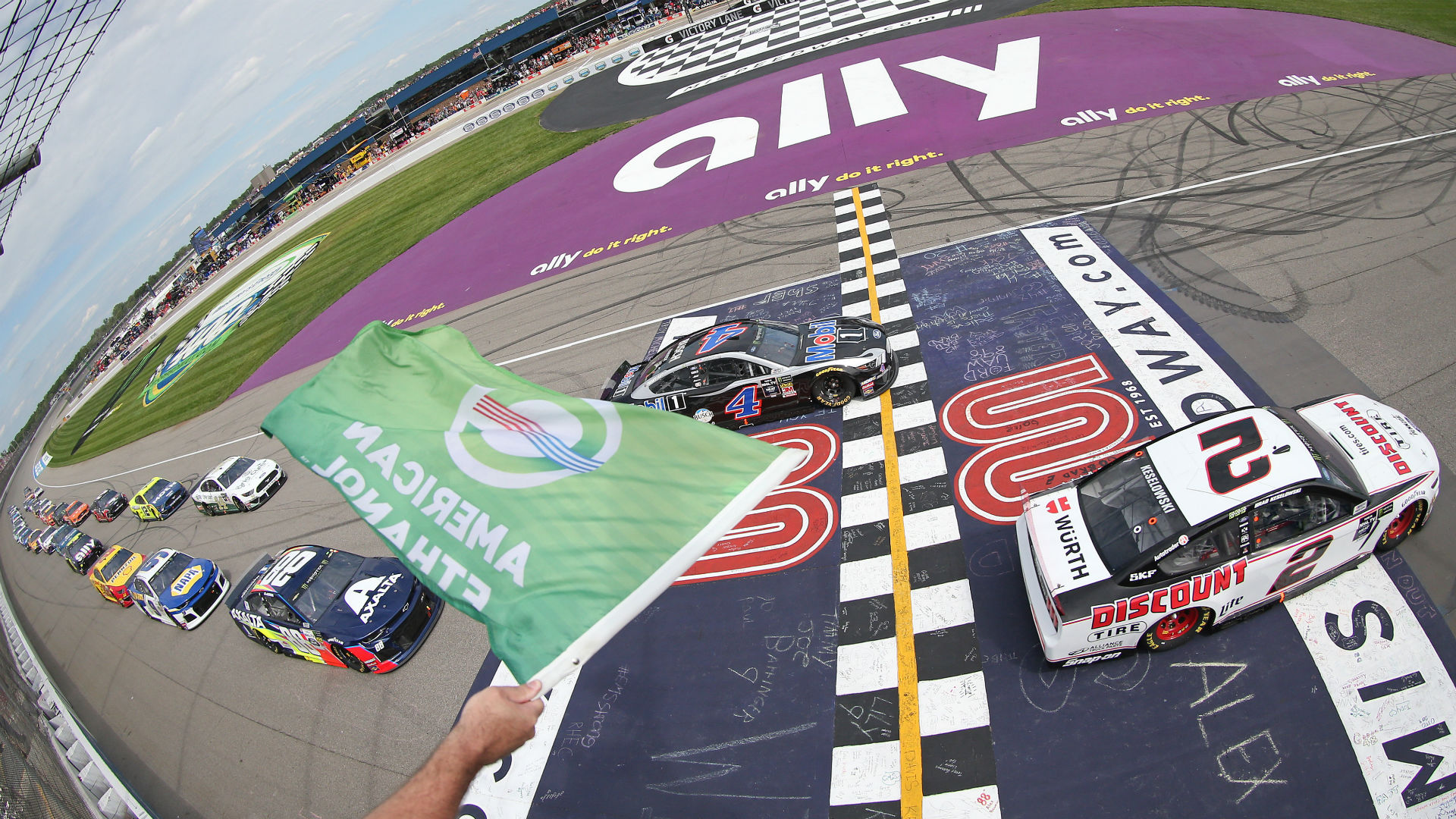 NASCAR lineup at Michigan: Starting order, pole for Saturday's race without qualifying