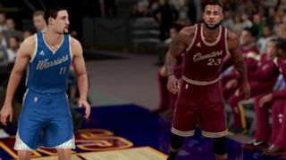 NBA 2K16 LeBron James Klay Thompson Christmas jerseys