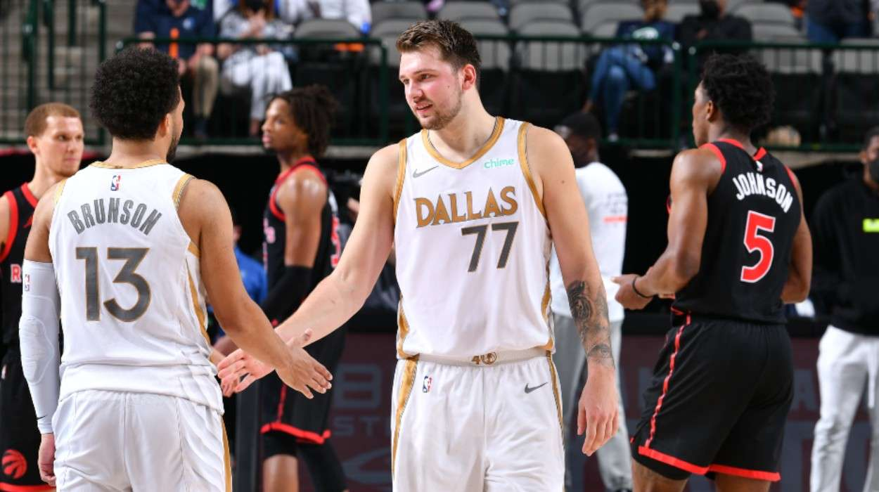 Jalen Brunson Dallas Mavericks Luka Doncic Dallas Mavericks