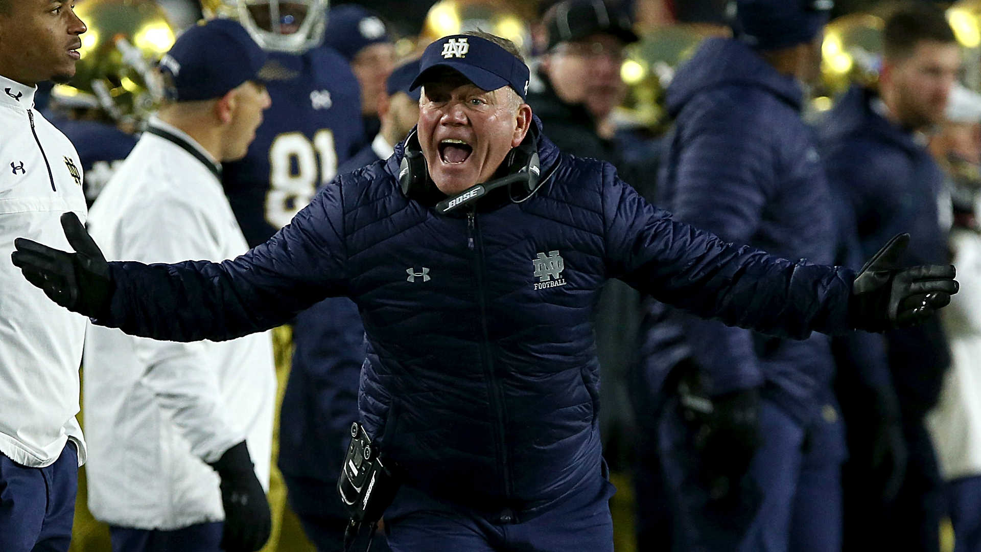 Notre Dame's Brian Kelly threatens to boycott College Football Playoff if families can't attend