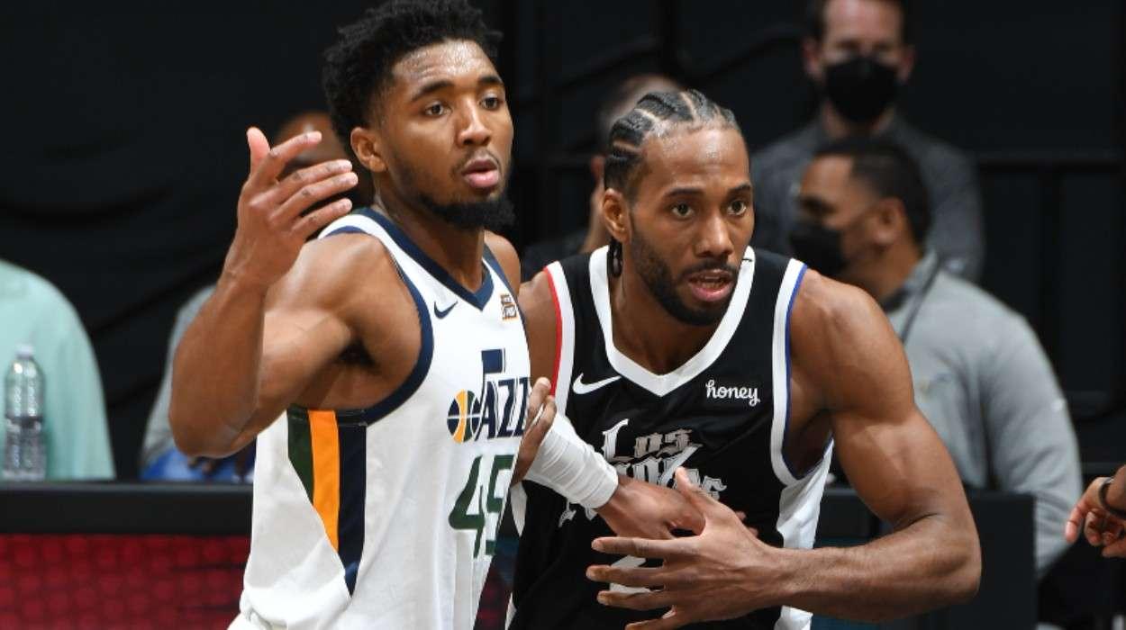 Donovan Mitchell Utah Jazz Kawhi Leonard LA Clippers