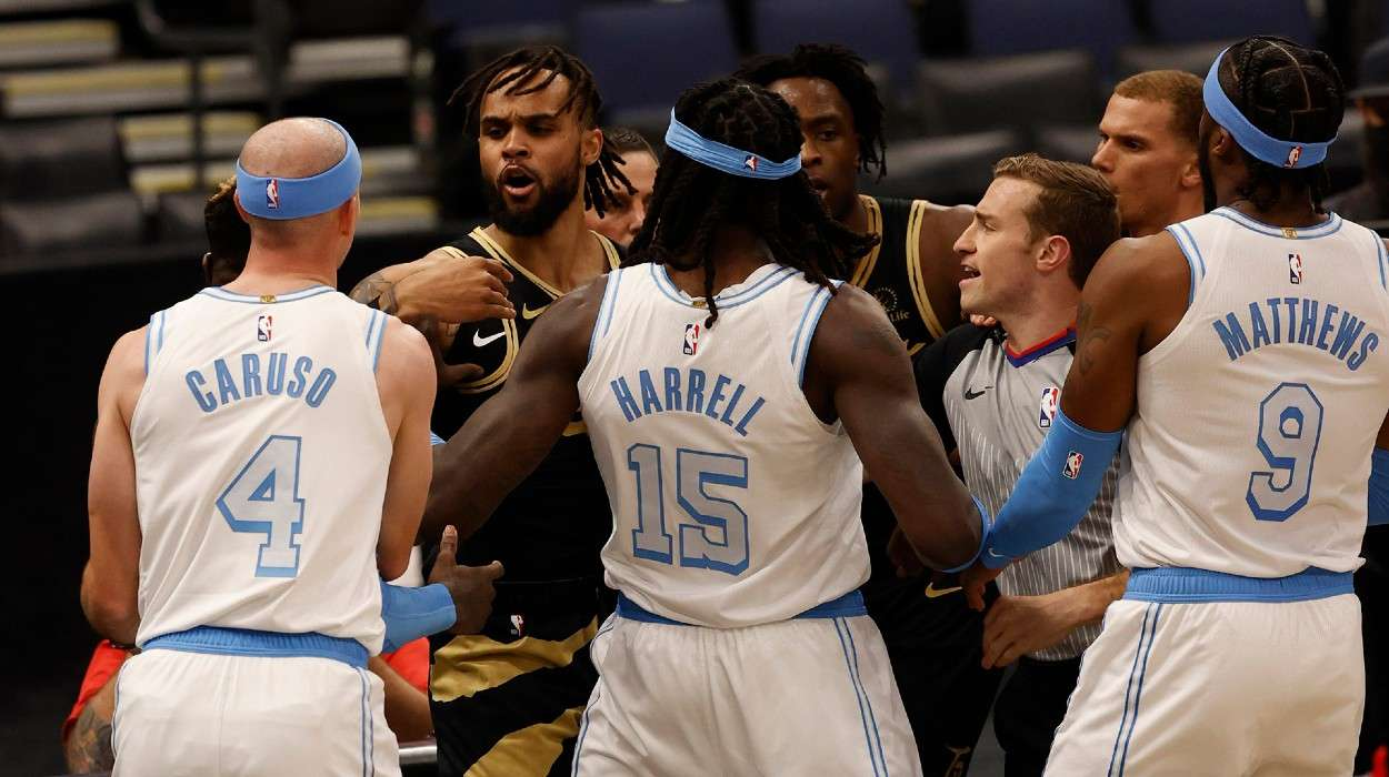 Toronto Raptors Los Angeles Lakers altercation