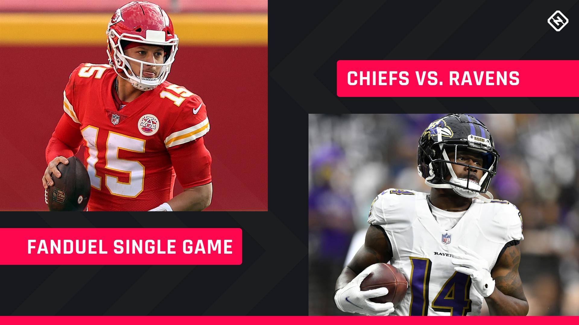 Sunday Night Football FanDuel Picks: NFL DFS lineup advice for Week 2 Ravens-Chiefs single-game tournaments