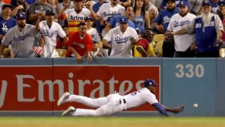 Scenes from Game 2 of the World Series