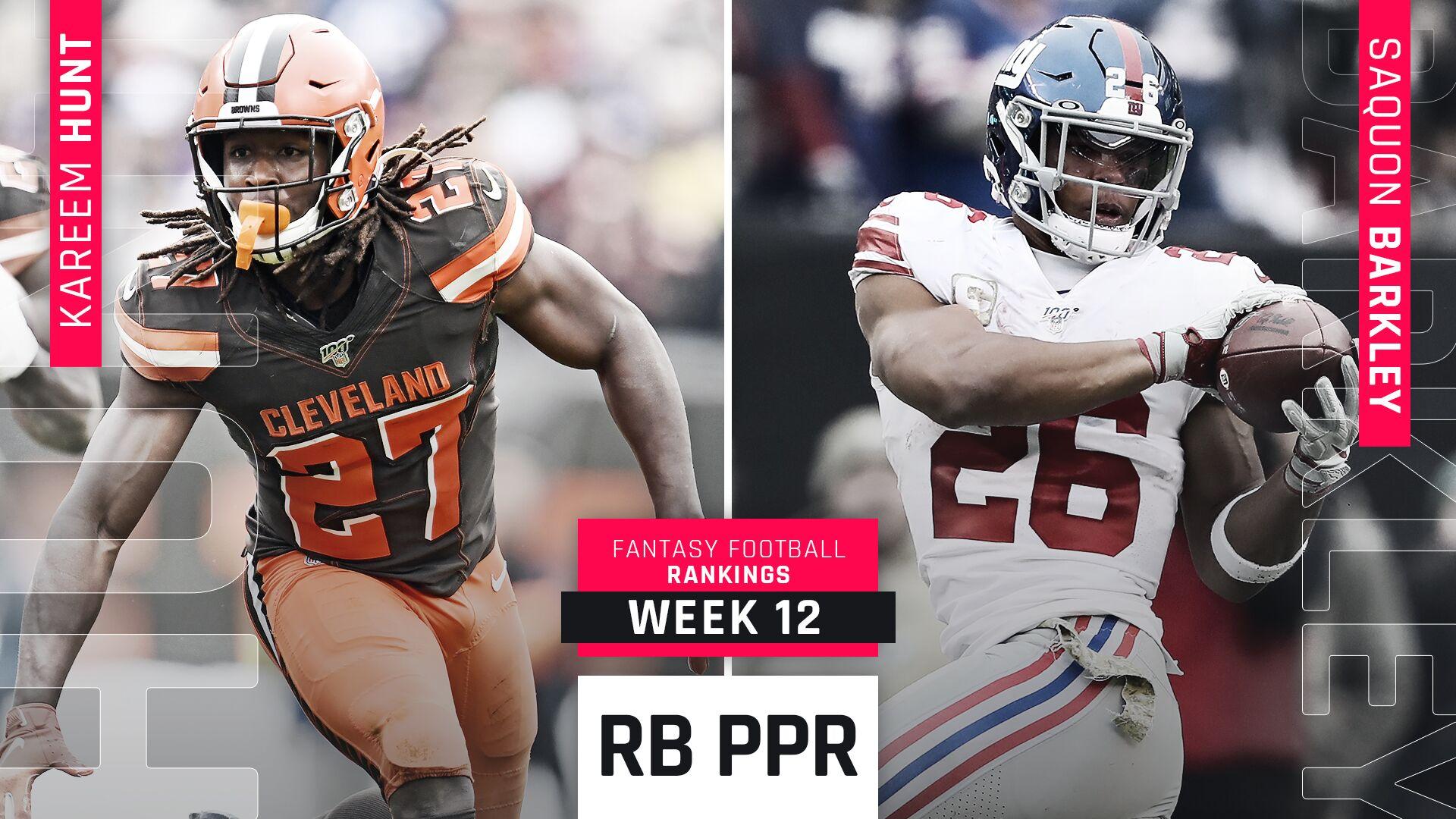Week 12 Fantasy PPR RB Rankings