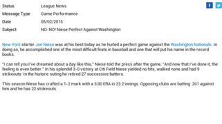 OOTP 16 - Perfect Game