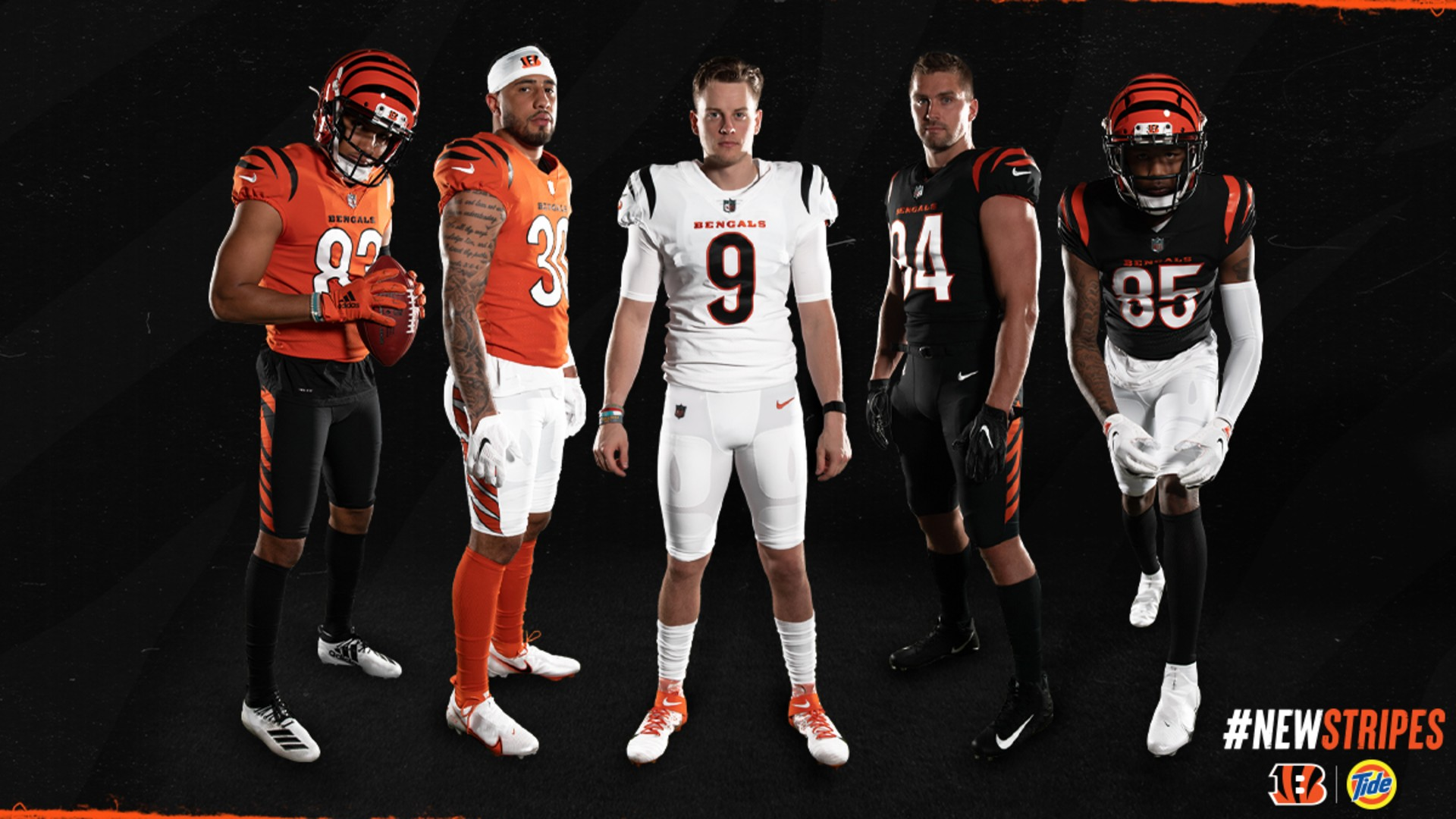 Where do new Bengals uniforms rank among Nike NFL redesigns as of 2021?