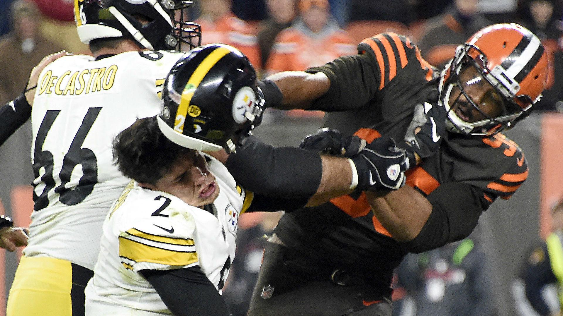 Browns' Myles Garrett reinstated by NFL, eager to put Mason Rudolph helmet incident behind him