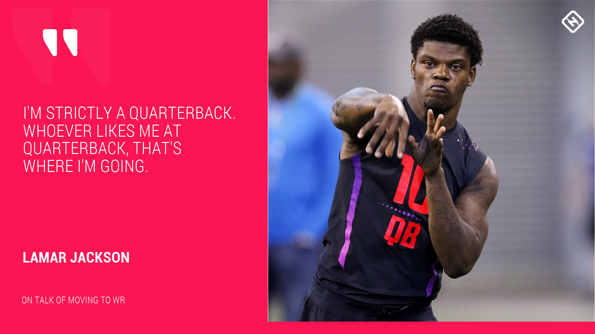 Lamar Jackson at WR? Louisville QB shoots down talk of switch