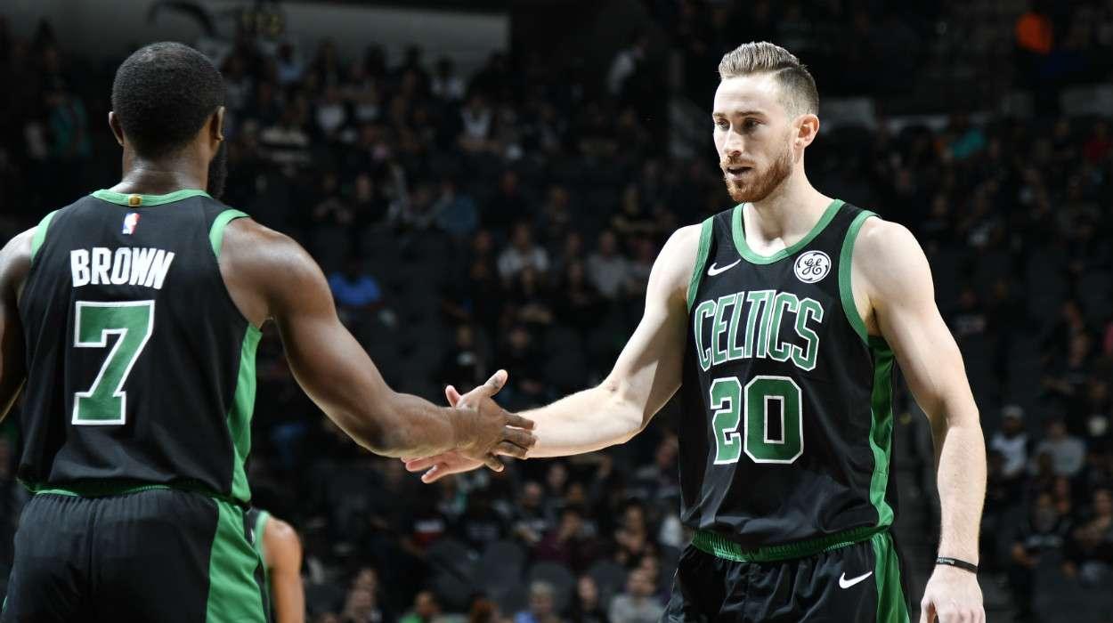 Jaylen Brown Gordon Hayward Boston Celtics