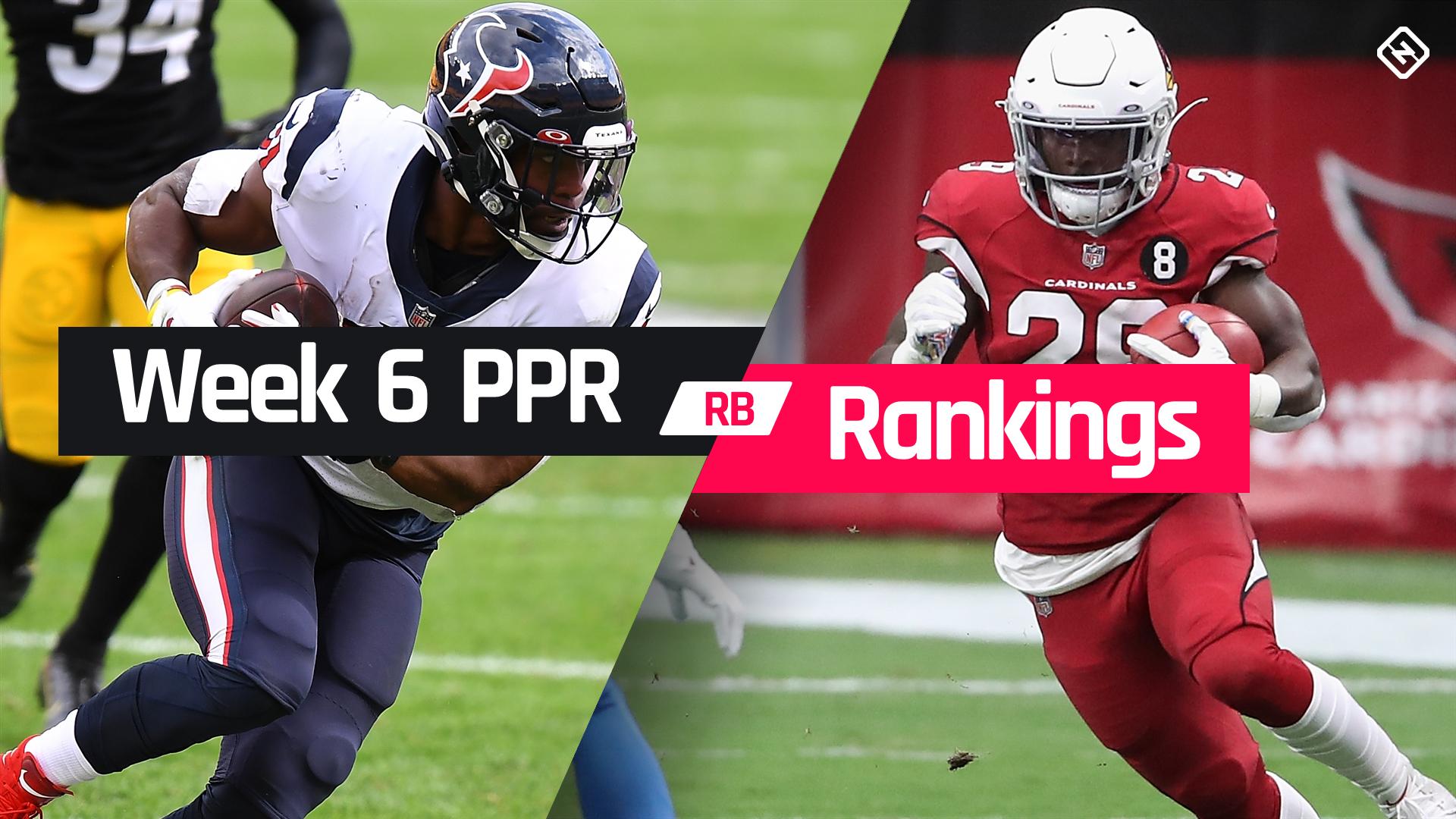 Week 6 Fantasy Football Running Back PPR Rankings