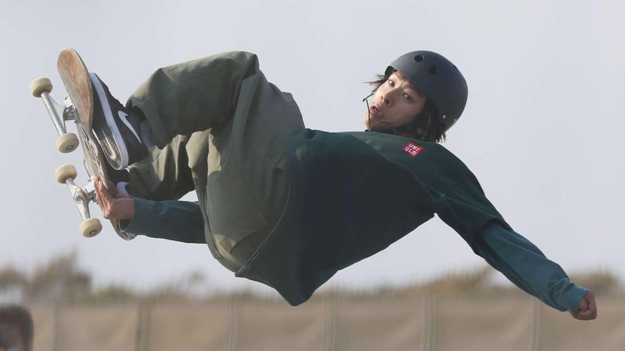 平野歩夢, スケードボード