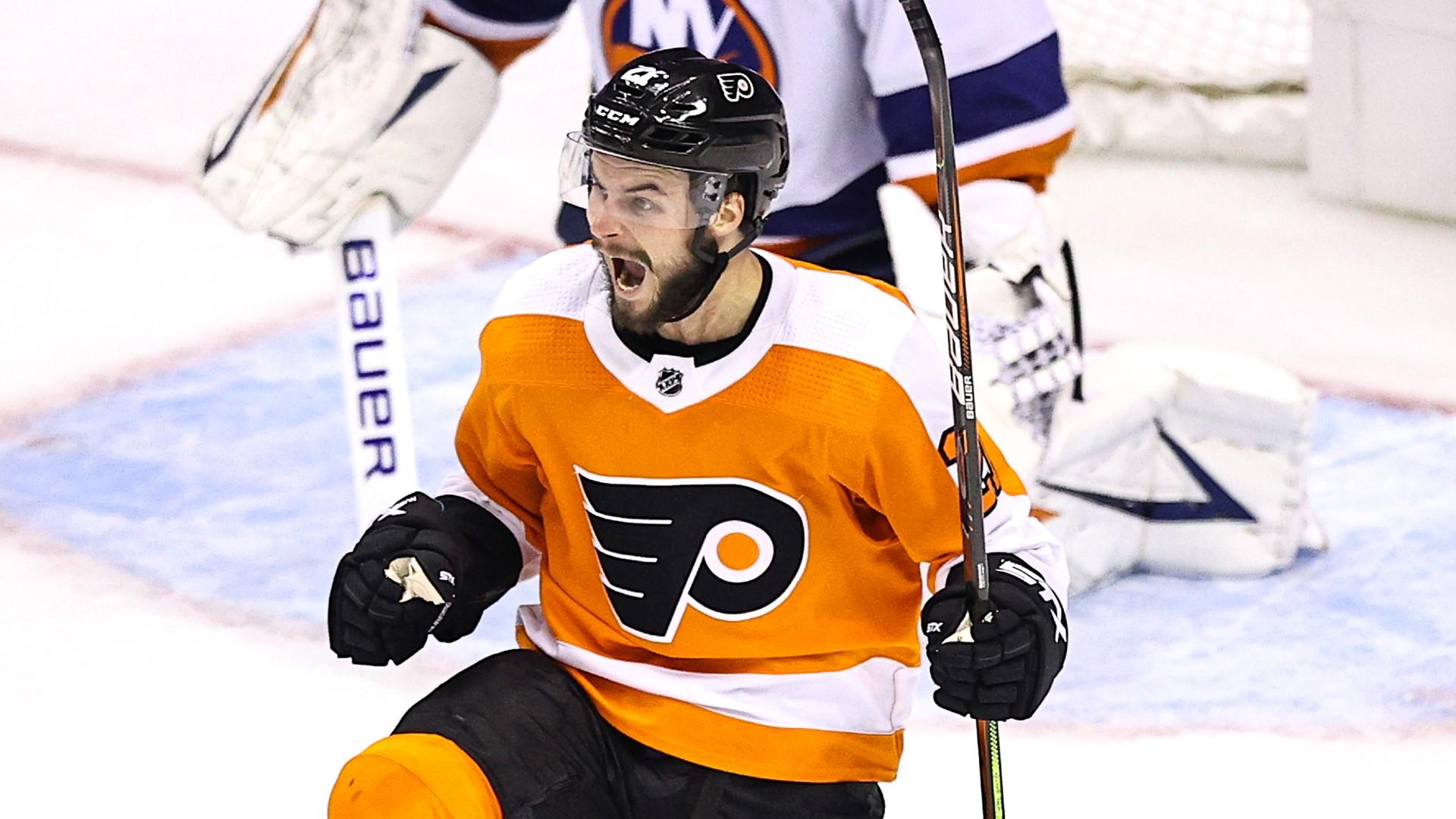 Flyers stay alive as Claude Giroux finally scores, Scott Laughton nets OT winner vs. Islanders