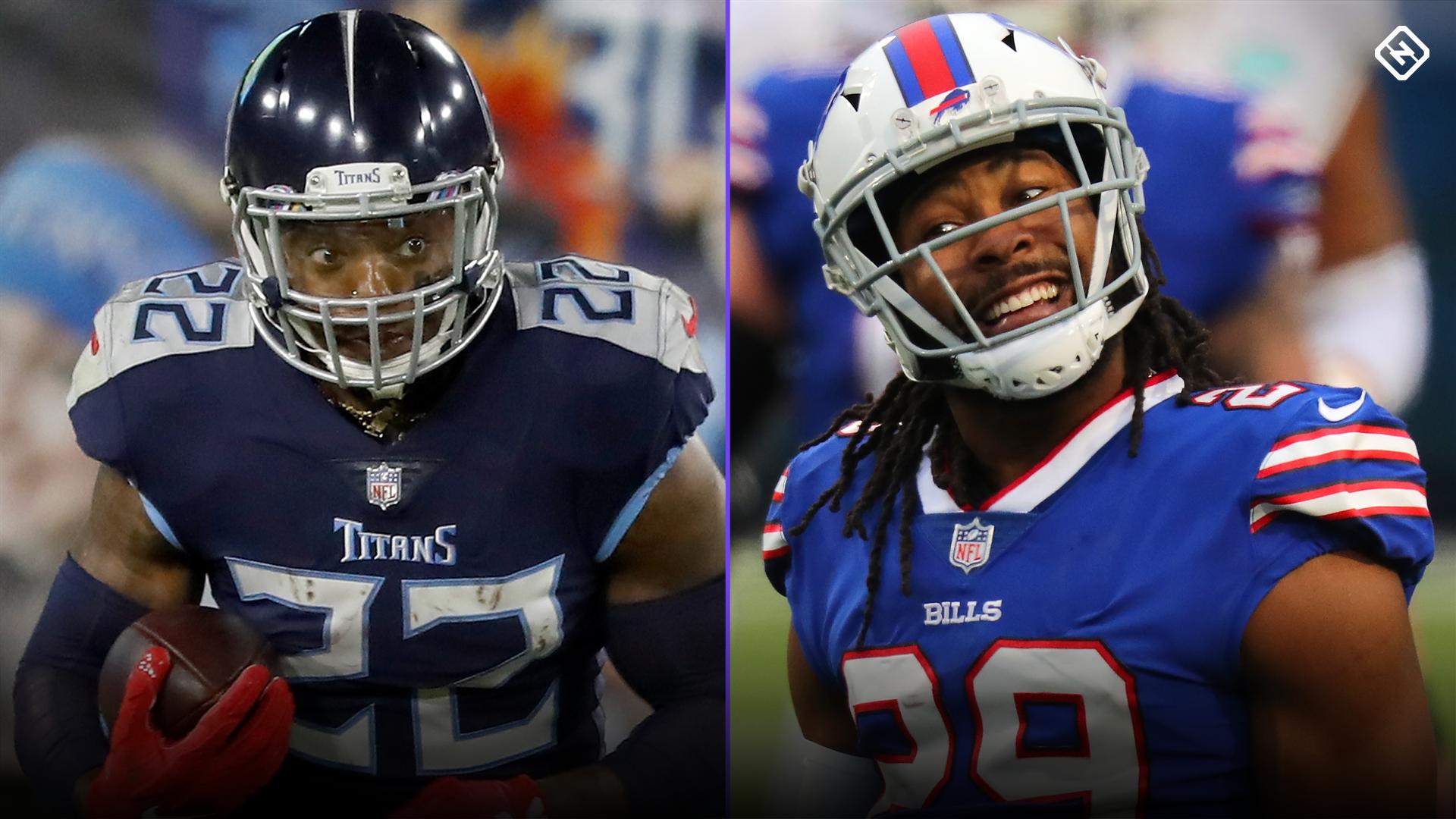 Revisiting Derrick Henry's epic stiff-arm on Josh Norman in 2020 Titans vs. Bills game