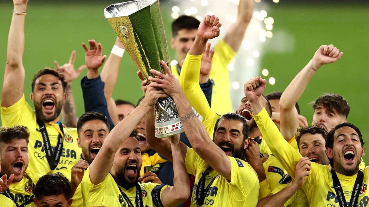 Villarreal hoist Europa League trophy