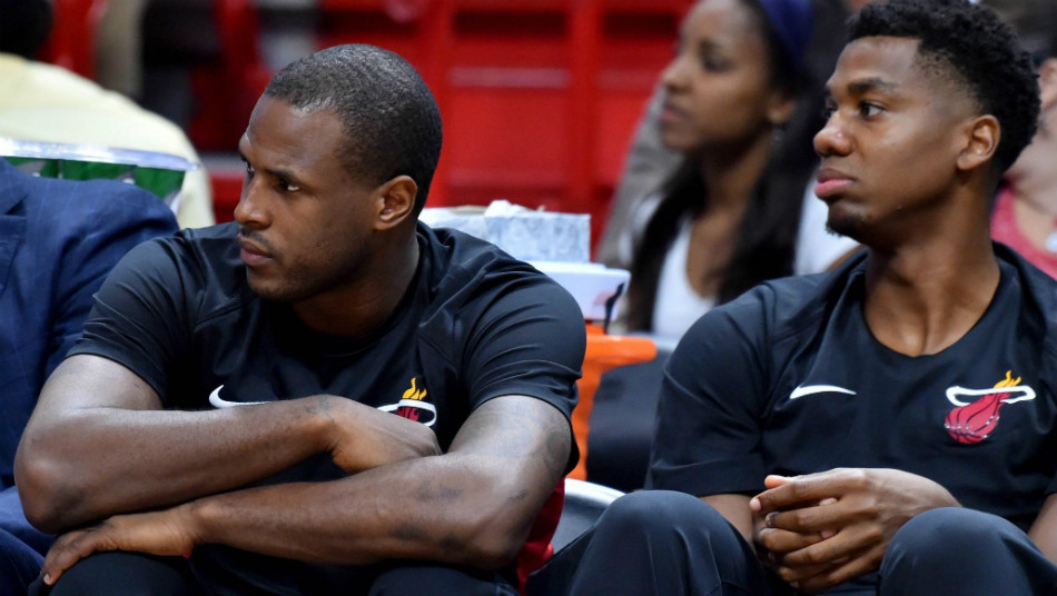 Dion Waiters Hassan Whiteside Miami Heat
