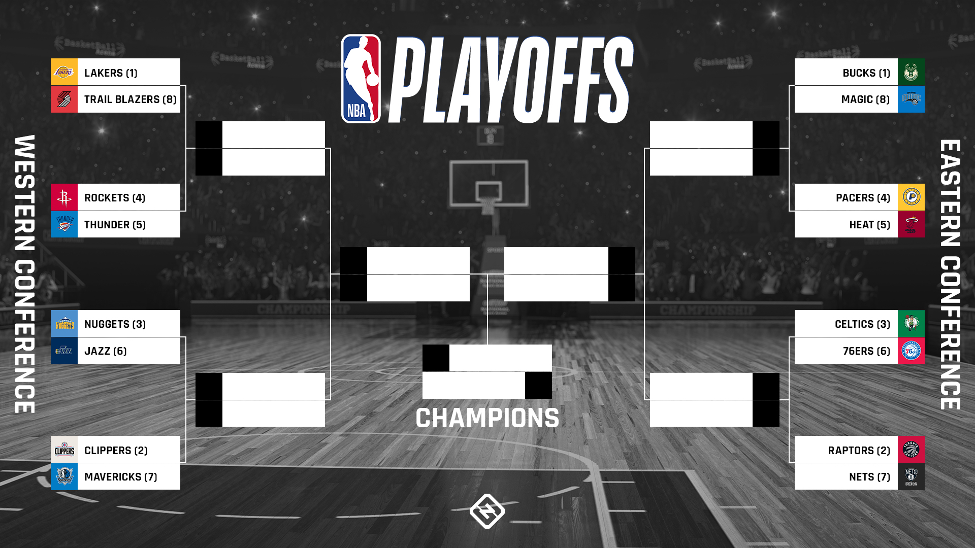 NBA playoff bracket 2020: Updated standings, seeds & Round 1 ...