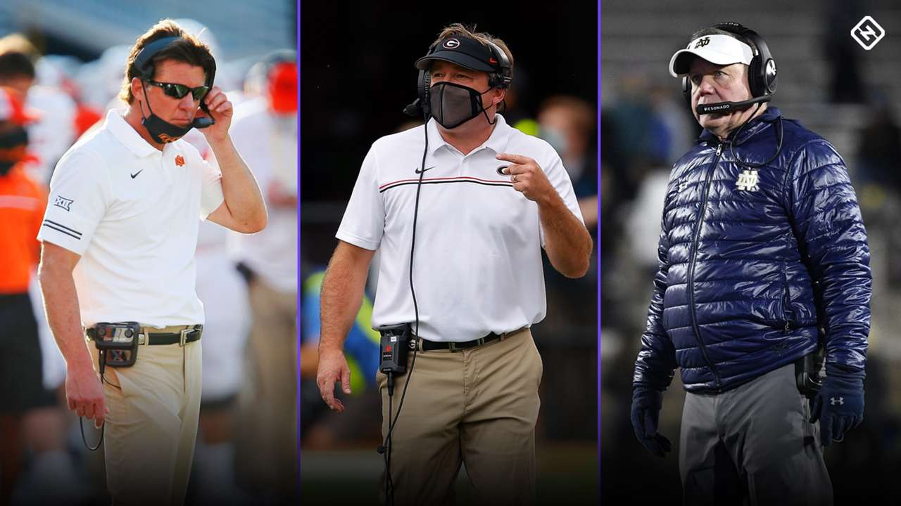 Mike Gundy-Kirby Smart-Brian Kelly-101820-GETTY-FTR