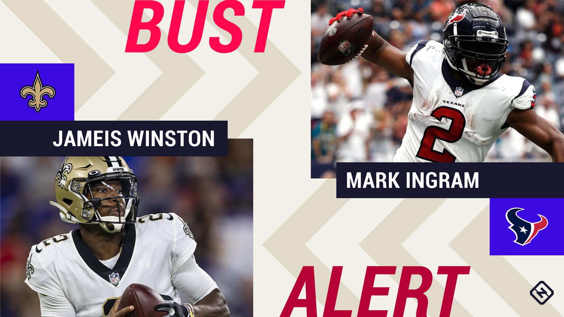 Week 2 Fantasy Busts: Jameis Winston, Mark Ingram goes from hot waiver pickups to potential busts...