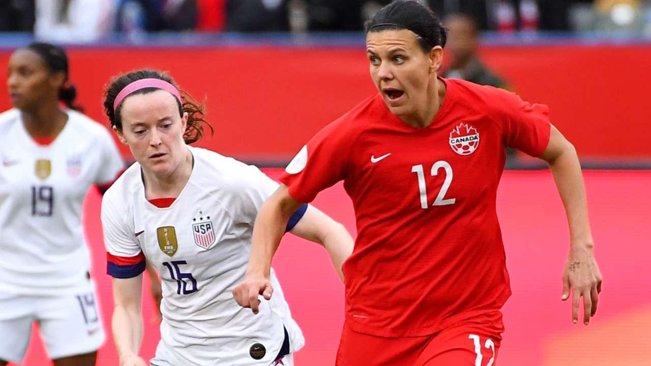 Christine Sinclair - Canada - USA - Olympic qualifying