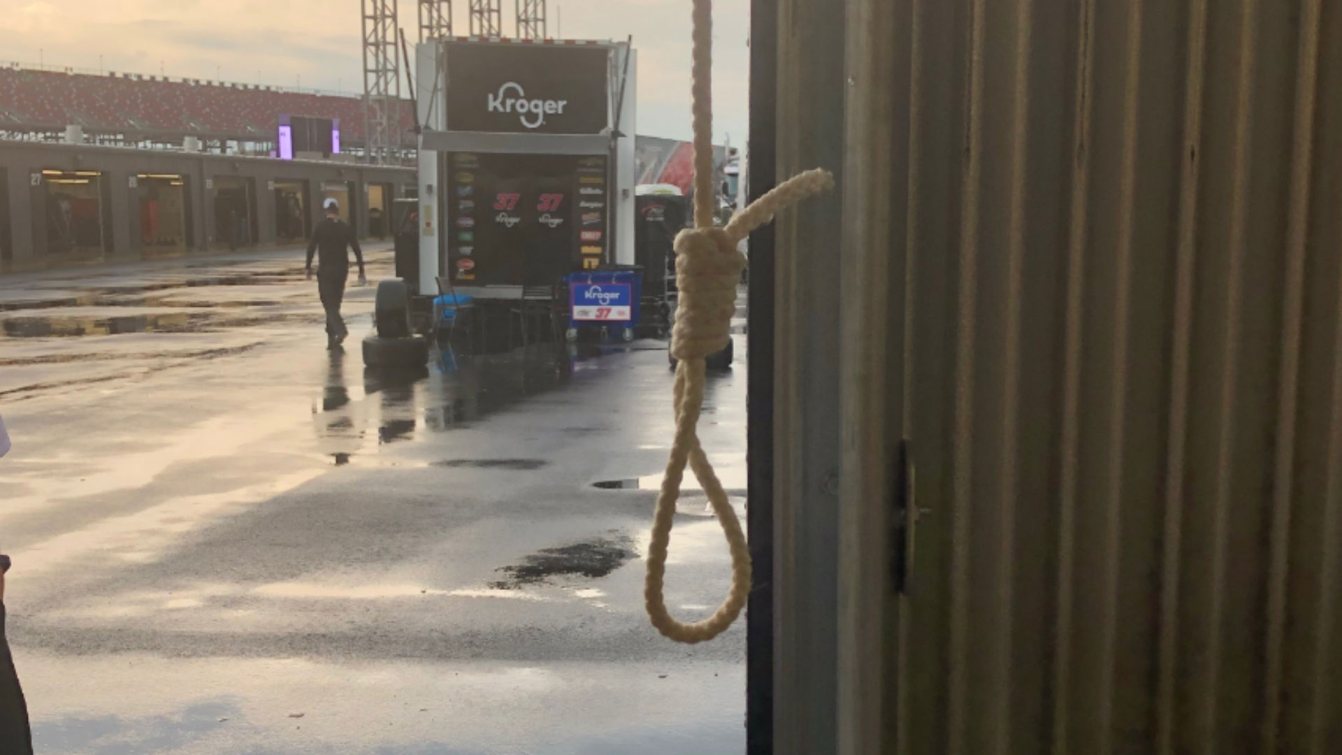 A clear picture of the noose in Bubba Wallace's garage is released by NASCAR