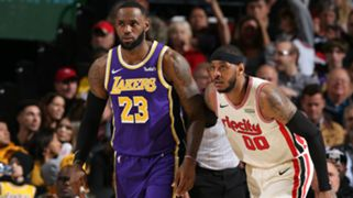 Carmelo Anthony Portland Trail Blazers LeBron James Los Angeles Lakers