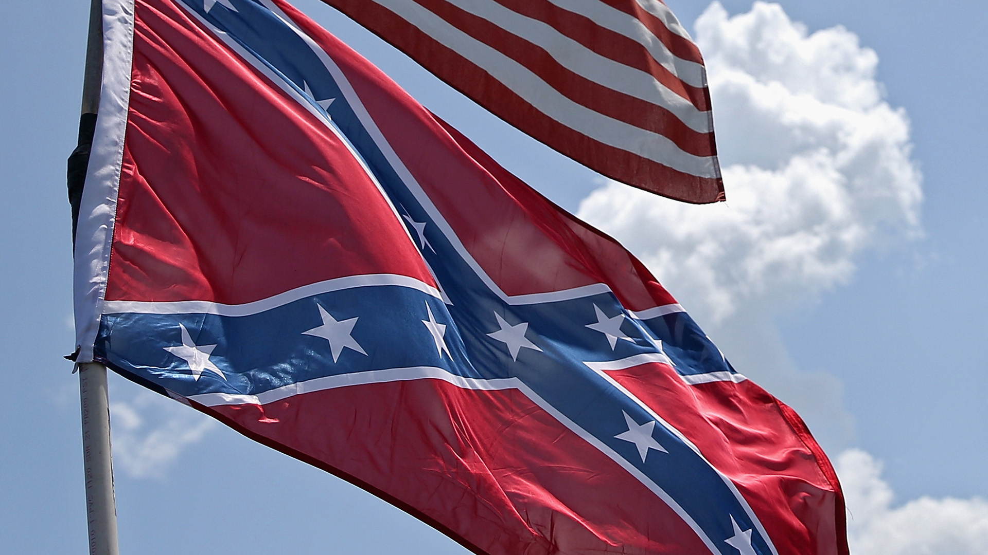 NASCAR boss condemns the 'jackass' flying a Confederate flag over Talladega before Sunday's race 1