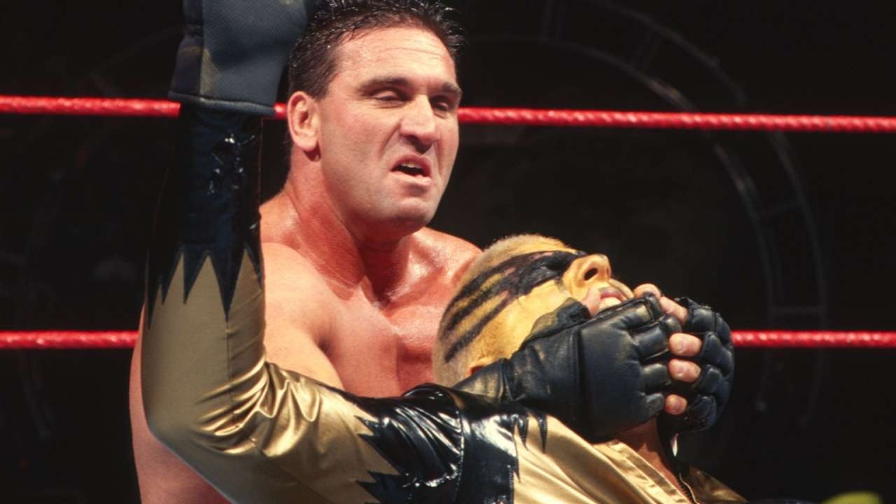 Ken Shamrock took on Goldust in a highly physical bout in the first round.