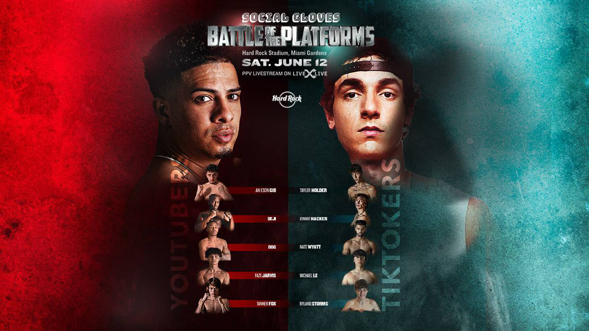 YouTube vs. TikTok Boxing Live Stream: How to Watch Battle of the Platforms Fights on LiveXLive PPV