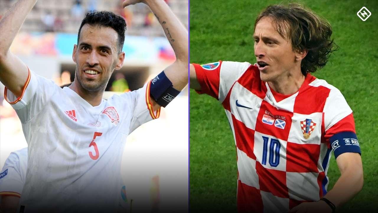 Sergio Busquets and Luka Modric at Euro 2021