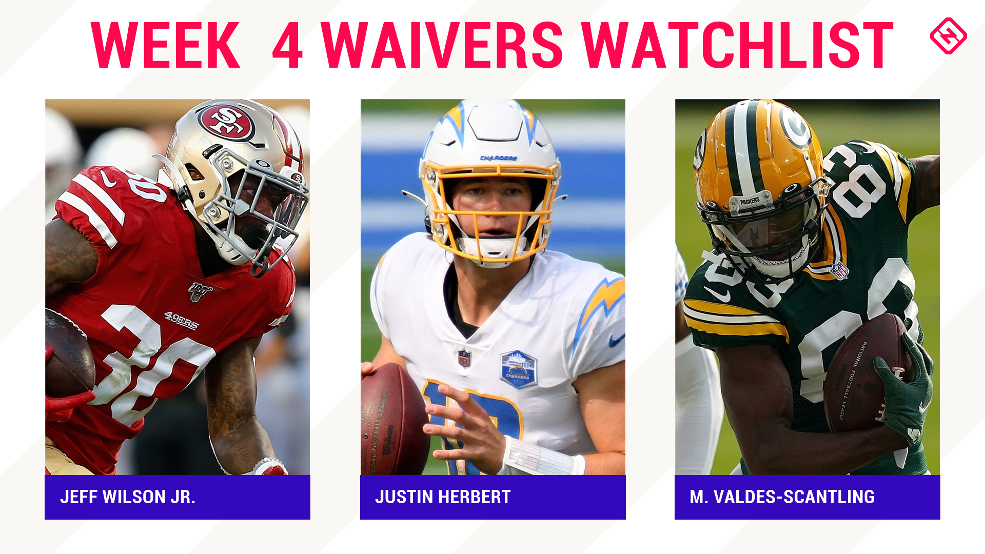 Fantasy Football Waiver Wire Watchlist for Week 4: Streaming targets, free agent sleepers include Jeff Wilson Jr., Justin Herbert, Marquez Valdes-Scantling 1