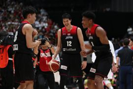 FIBAバスケットボールワールドカップでチェコ代表と対戦する日本代表