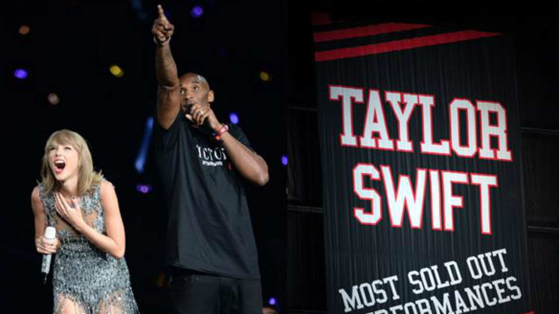 Kobe Bryant Surprises Taylor Swift With A Banner In Staples Center Rafters Sporting News