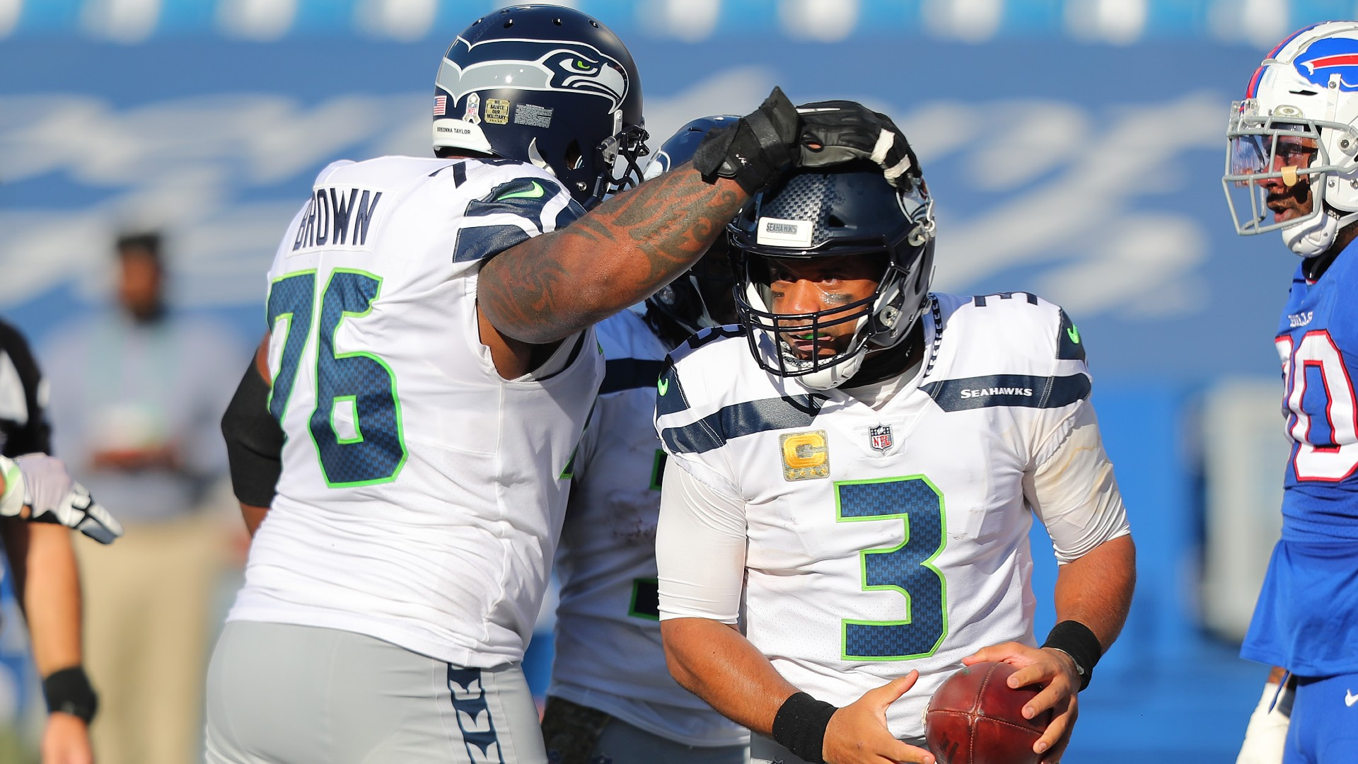 Russell Wilson on Seahawks' contract dispute with Duane Brown: 'We need' left tackle outfield
