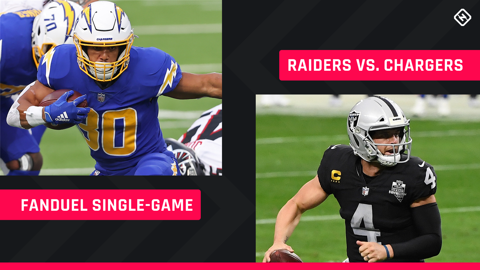 Thursday Night Football FanDuel Picks: NFL DFS lineup advice for Week 15 Chargers-Raiders single-game tournaments