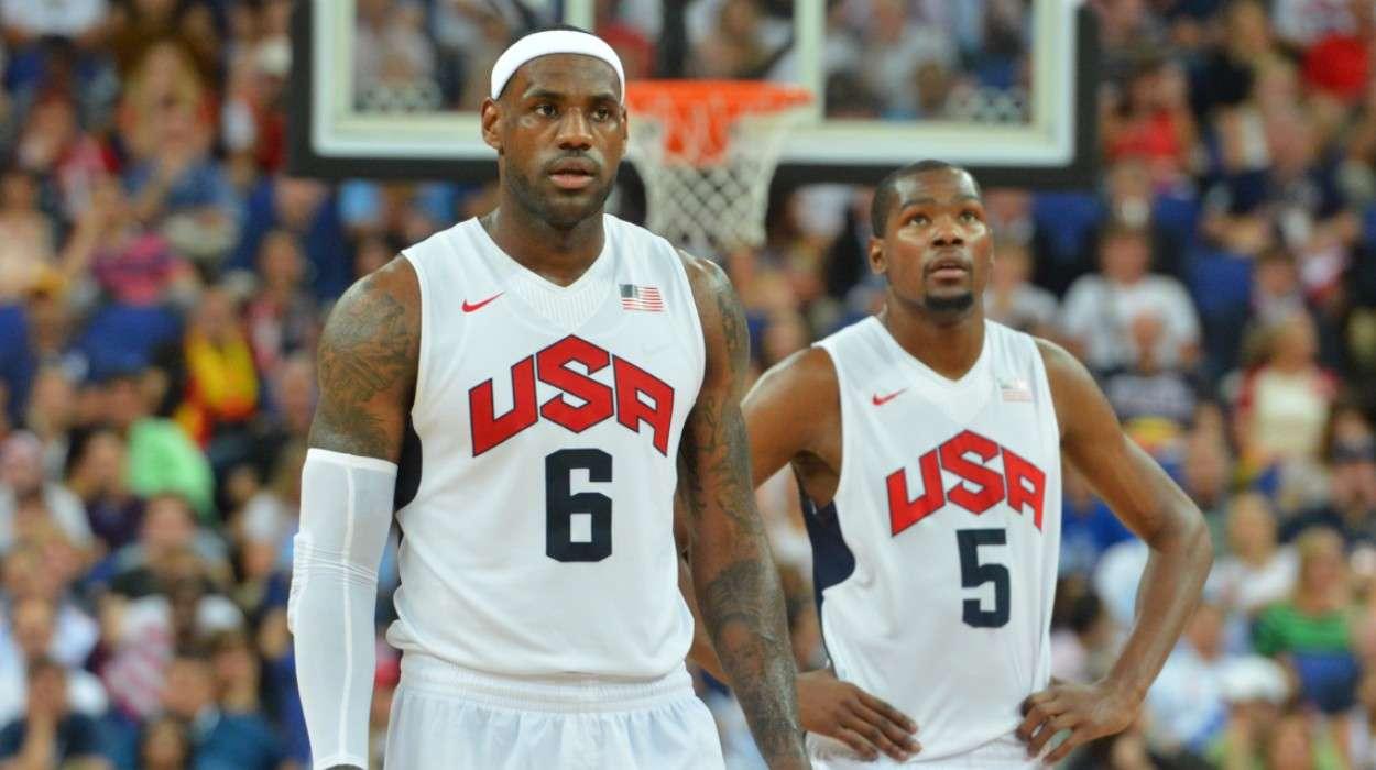 LeBron James Kevin Durant US Men's Senior Nation Team