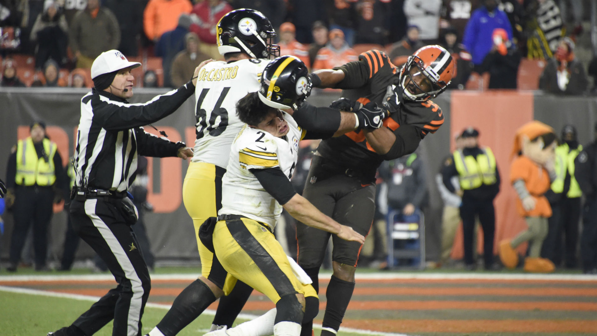 A timeline of AFC North violence: Browns, Steelers add another incident to division's ugly decade