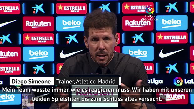 "Simeone ""sehr happy"" nach 2:2 in Barcelona"
