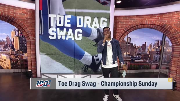 Nate Burleson breaks down Championship Sunday toe-drag swag catches