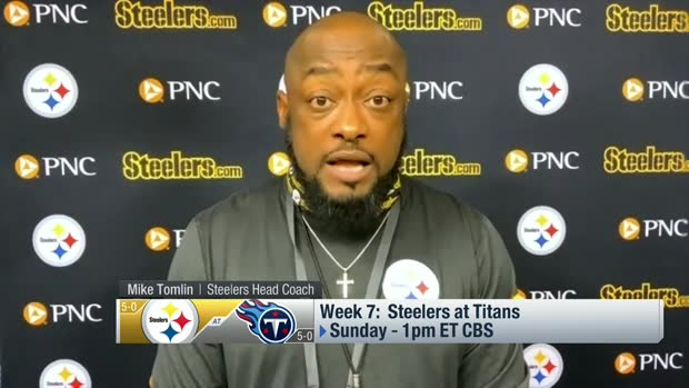 Tomlin: Steelers excited for a 'five-star matchup' with Titans in Week 7