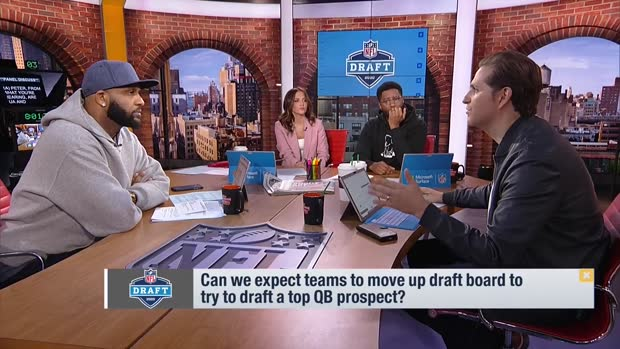 'Good Morning Football' explores teams likely to move up draft boards for a quarterback