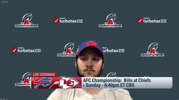 Josh Allen previews matchup with Chiefs ahead of AFC championship