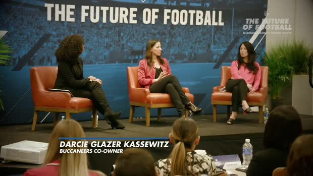 Bucs owner Darcie Glazer Kassewitz discusses the future of women in coaching