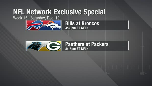 Bill-Broncos, Panthers-Packers Week 15 matchups to air on NFL Network