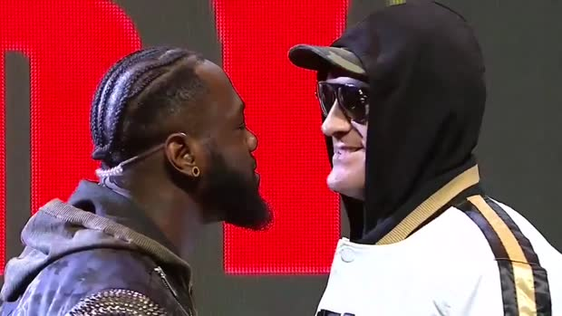 """Fury is in Fire!"" Wilder und Fury gehen beim Face-Off aufeinander los 