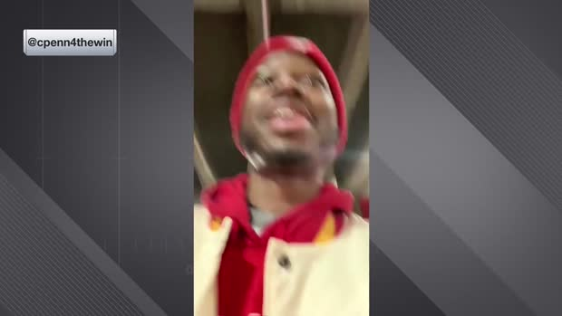 Kansas City Chiefs superfan Charles 'Big Buck Chuck' Penn explains why he leaves games early