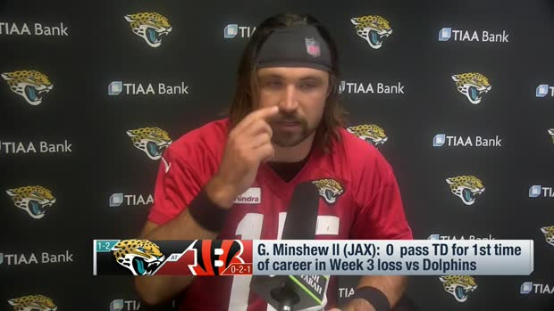 Gardner Minshew: I've had to 'fight the temptation to press' at times this year