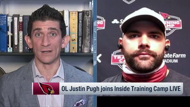 Justin Pugh: 'I only have to block for like a second now' that Hopkins is on team