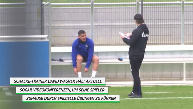 Schalke 04: Social Distancing beim Training