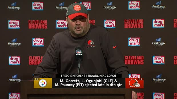 Cleveland Browns head coach Freddie Kitchens: 'I'm embarrassed' after 'TNF' skirmish